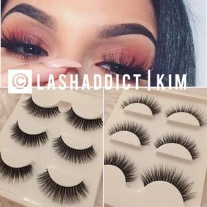 Natural Mink Lashes Eyelashes Makeup 3D Lilly New